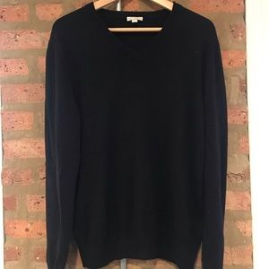 Black Cotton/Cashmere Sweater